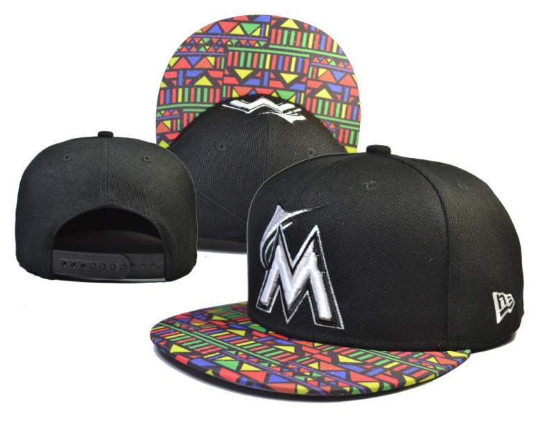 8c0f25cf5d5 MLB Miami Marlins NE Snapback Hat  18  ing5.14 143  -  18.00   Cheap ...