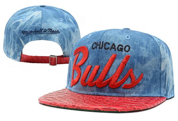 NBA Chicago Bulls MN Acid Wash Denim Strapback Hat  56  ing9.10 140 ... cf65c0cb29b1
