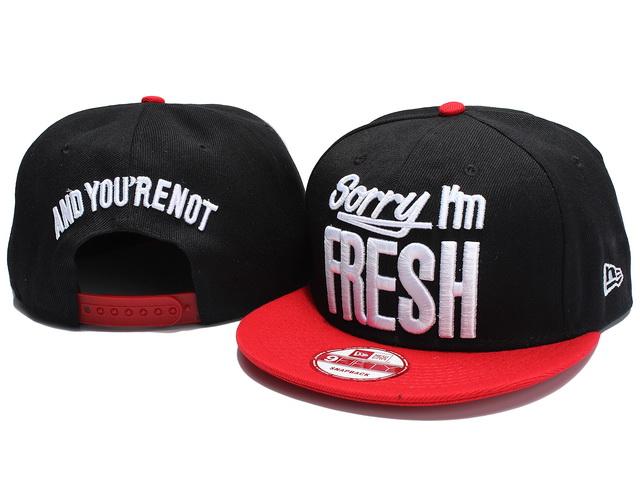 Sorry I Am Fresh Snapback Hat NU09  ing 1690  -  18.00   Cheap ... fa4894379fd